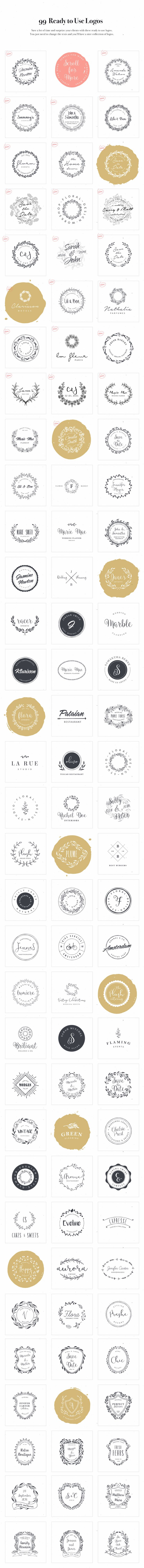 Logo Design Kit by VladCristea on @creativemarket $29.00