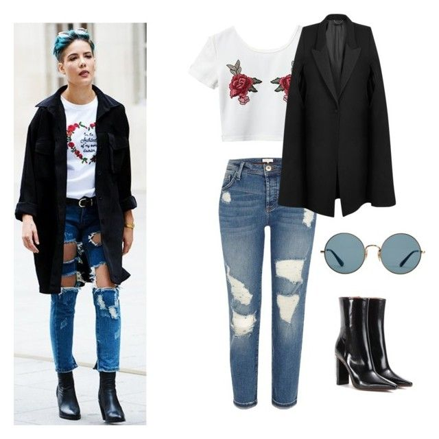 """""""Halsey Inspired Outfit"""" by jcupcake123 ❤ liked on Polyvore featuring Vetements, River Island, Ray-Ban, STELLA McCARTNEY, outfit, set and halsey"""