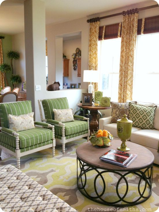 Green And Gold Living Room Decor Cozy Living Room Decorating House Of Smiths Cities Parade