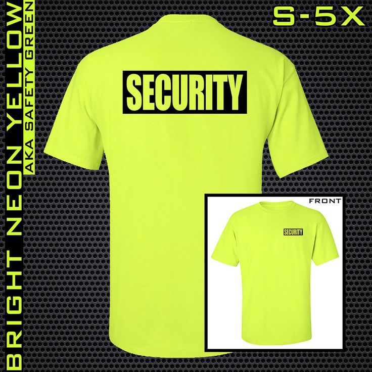 0b39b3202 Security shirt neon yellow safety green to guard staff promotional sample  neon yellow promotion safety jpg