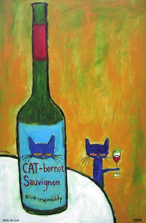 "Artist James Dean has gained fans throughout the country with his Pete the Cat paintings. On Saturday, Dean's latest series, named ""Think Responsibly, Drink Responsively: A Cat's Commentary on Wine Connoisseurship,"" opens at The Seen Gallery in Decatur."