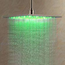 """12"""" RGB LED Regenbrause Duschkopf Regenduschkopf Regendusche Duschbrause Modern"""