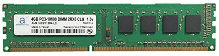 Adamanta 4GB (1x4GB) Desktop Memory Upgrade for Acer Predator G5920-007 DDR3 1333 PC3-10600 DIMM 2Rx8 CL9 1.5v Notebook RAM - Brought to you by Avarsha.com