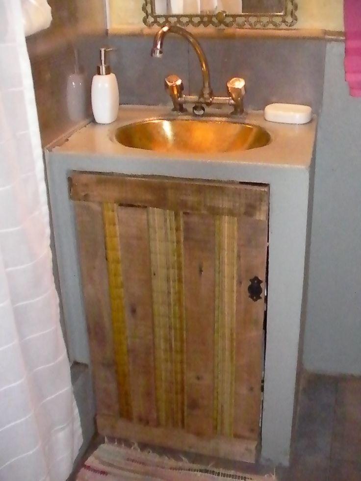 Como mi ba o tiene una onda rustica vintage hicimos la - Como hacer una puerta rustica ...