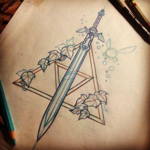 Best 25 zelda tattoo ideas on pinterest new princess for Sword tattoos tumblr