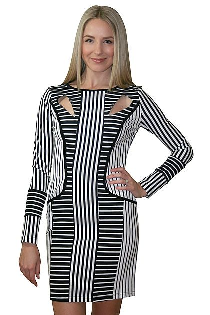 Elliatt Stripe Illusions Dress » online clothing shop with top fashion brand dresses, tops, skirts, jackets for women.