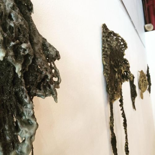#sneakpeek #fineart #wool #fiberart #beeswax #sculpture opening this Friday at design on main in Ames Iowa. 7-9pm