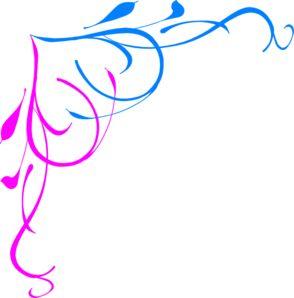Free Pink Border Clip Art | Blue Pink Border clip art - vector clip art online, royalty free ...