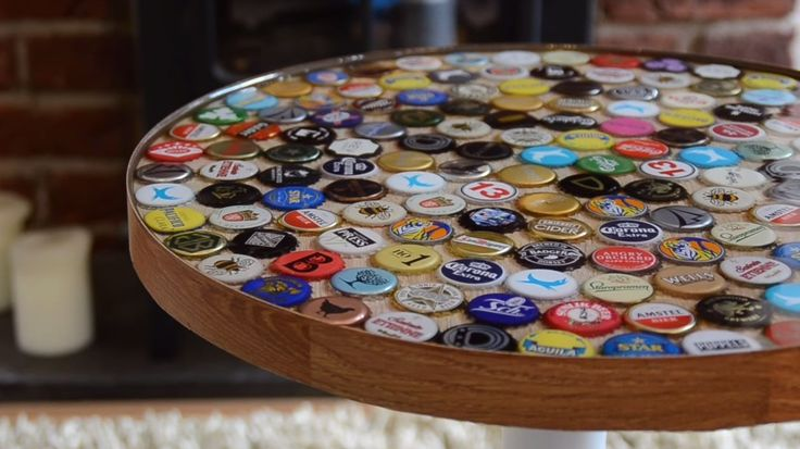 How To Make A Table Using Beer Bottle Caps