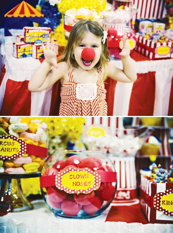 Carnival of Dreams {Circus Themed Birthday Party} graceandrubies.com