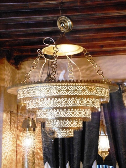 Outstanding Moroccan pendant lamp with finest chiselled handwork