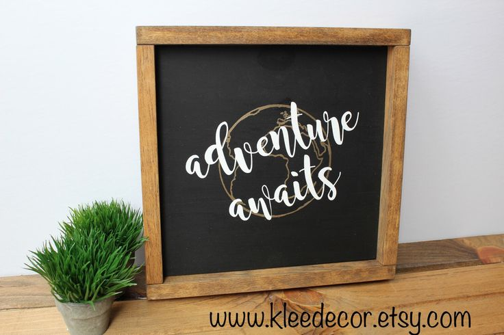 Adventure awaits! The perfect gift for the traveller in your life! Available at kleedecor on Etsy!