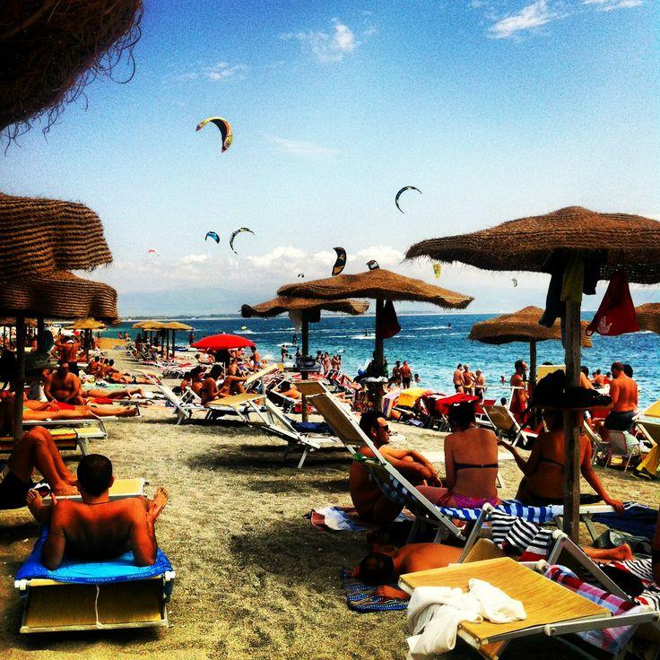 Hang Loose Beach, Gizzeria, Calabria, IT #hangloose  #calabria #sea  #kite  #kitesurf