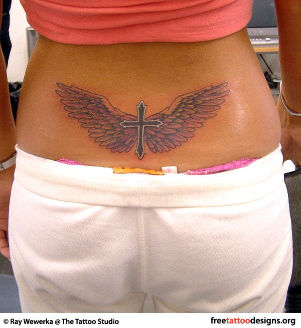 cross and angel wings tattoos and piercings pinterest angel wings tattoo and body art. Black Bedroom Furniture Sets. Home Design Ideas