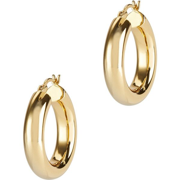 Argento Vivo Mini Hoops featuring polyvore, women's fashion, jewelry, earrings, gold, hoop earrings, argento vivo jewelry, argento vivo earrings and argento vivo
