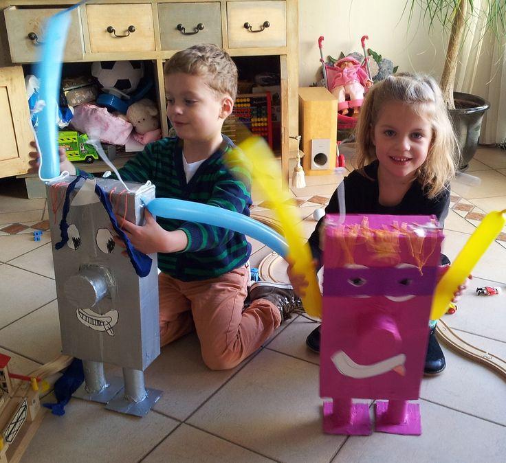 Robot knutselen met kleuters