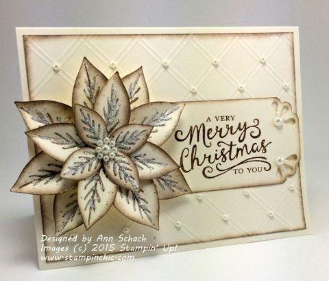 This card was created using the Reason for the Season stamp set, and the Festive Flower Builder Punch.