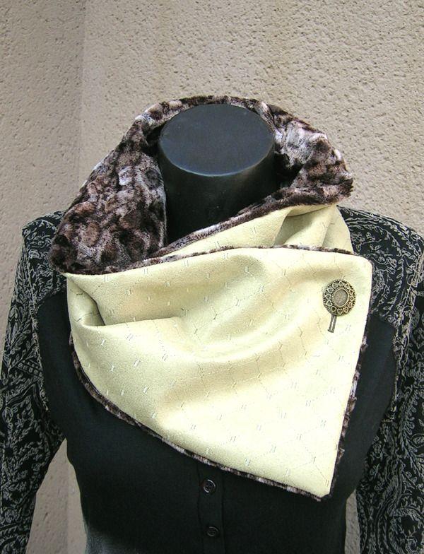 FAUX COL FOURRURE SYNTHETIQUE : Echarpe, foulard, cravate par celuidevy