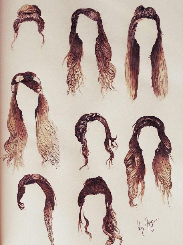 Zoella Line Drawing : Hair sketches tumblr drawings pinterest
