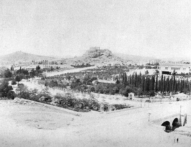 Κωνσταντίνος Αθανασίου, 1890, άποψη Ζαππείου.