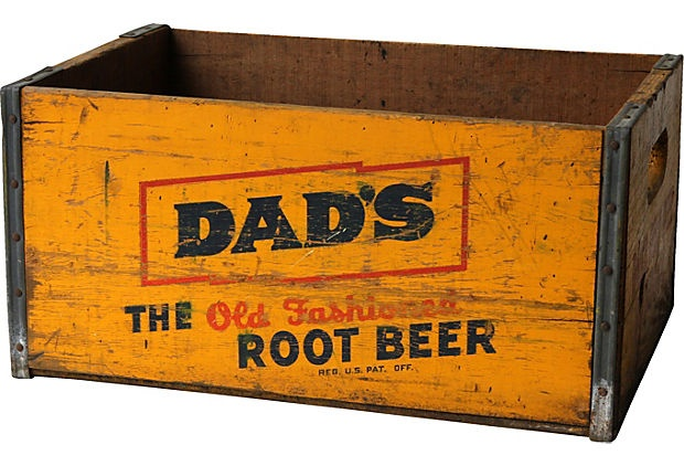 Dad 39 s root beer crate vintage pinterest crates for Where to find old wooden crates