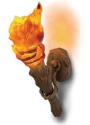 lampara aplique torch in my room