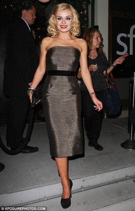 Hitting the town: Katherine Jenkins enjoyed a post-show dinner with her Dancing With The Stars co-stars at STK restaurant in West Hollywood last night