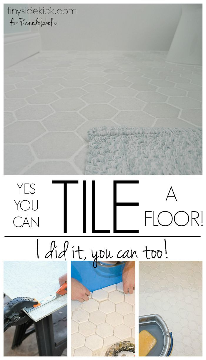 How to tile a bathroom floor -- don't let this DIY job intimidate you! This informative and detailed tutorial will help you install a beautiful tile floor.