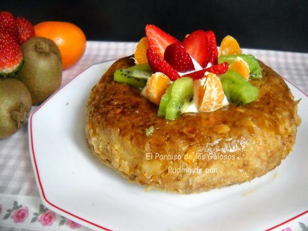 La receta de un pudin de pan hecho en el microondas.