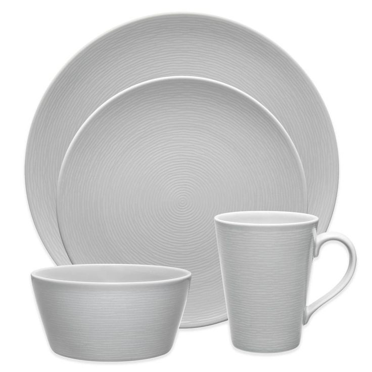 product image for Noritake® Grey on Grey Swirl 4-Piece Round Place Setting
