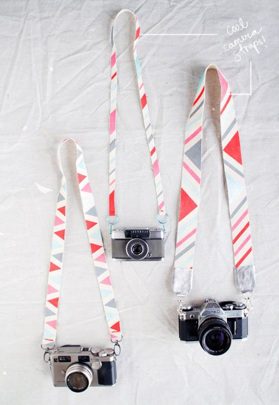 Painted Camera Straps - but you could use this technique for canvas bags as well, I think.