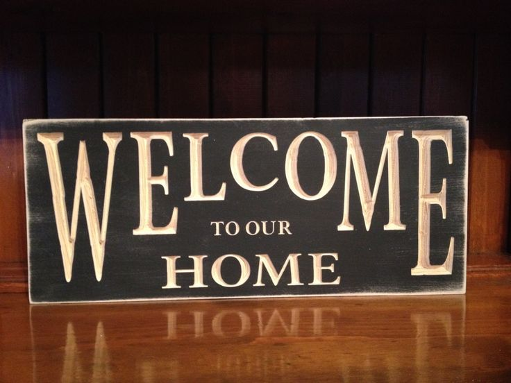 """Custom Carved Wooden Sign - """"Welcome To Our Home"""" by HayleesCloset on Etsy"""