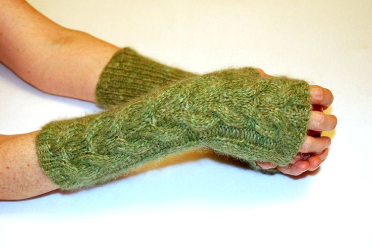 Green Knit Gloves, Knit Mittens, Soft Knit Mittens, Wool Mittens, Fingerless Mittens, Arm Warmers, Christmas Gift Idea For Her by aboutCRAFTS on Etsy