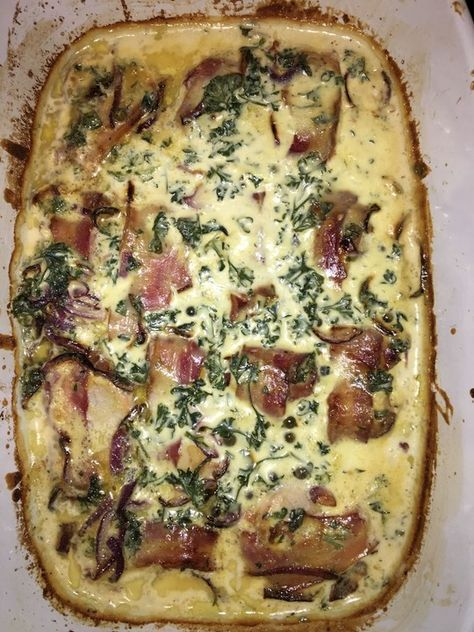 Schweinefilet in Bacon mit Frischkäsesoße überbacken 5
