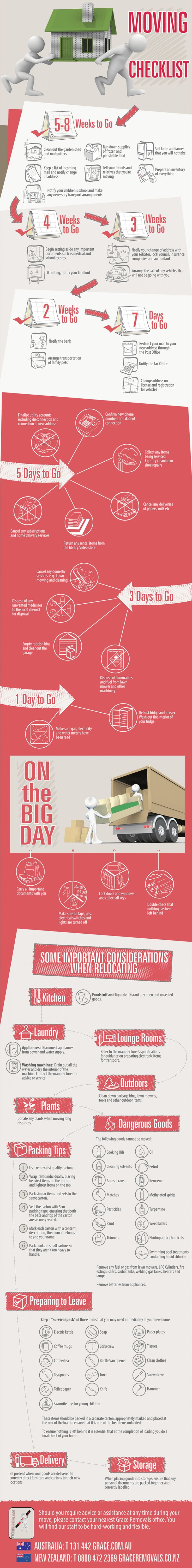 You'll be moving soon. Here is your moving check-list starting 8 weeks before THE big day!