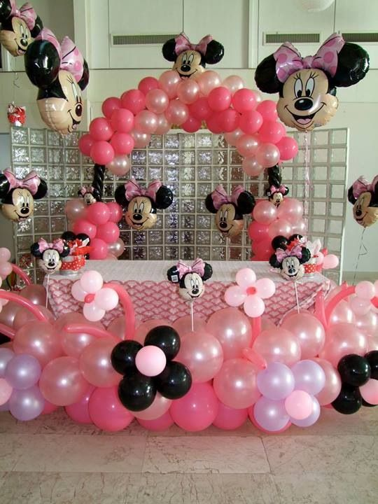 The bottom and balloon arch is REALLY cute! Not so much MInnie Mouse balloons though