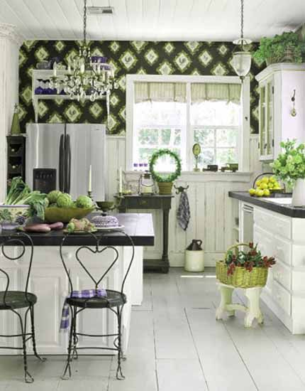 17 best images about kitchen paint wallpaper ideas on for Green country kitchen ideas