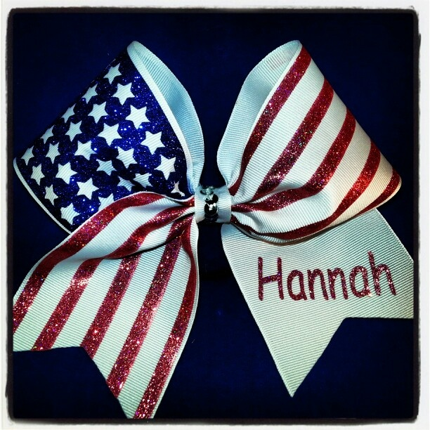 4th of July Cheer Bow Fourth of July Cheer Bow by Dazzling Bows & Bling 253-797-0034