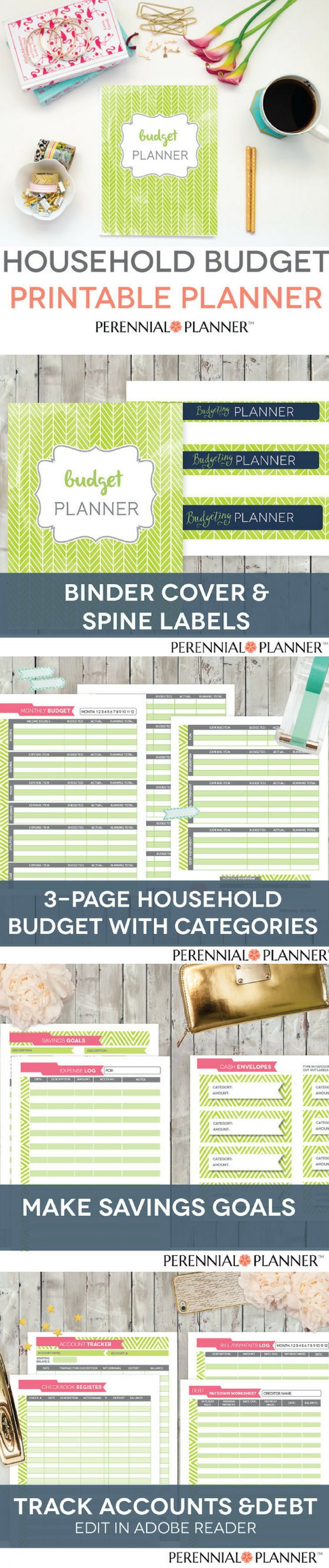 25 best household budget worksheet ideas on pinterest budget budget binder printable monthly household budget form financial planning set family money tracker robcynllc Image collections