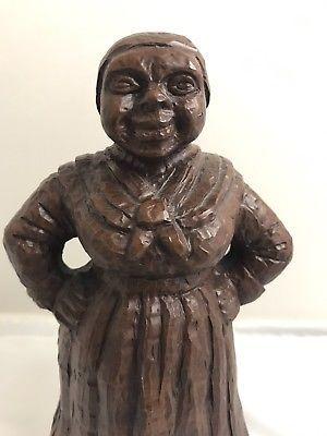 "Red-Mill Mfg. Pecan Shell Aunt Jemima Figurine 9"" Tall"
