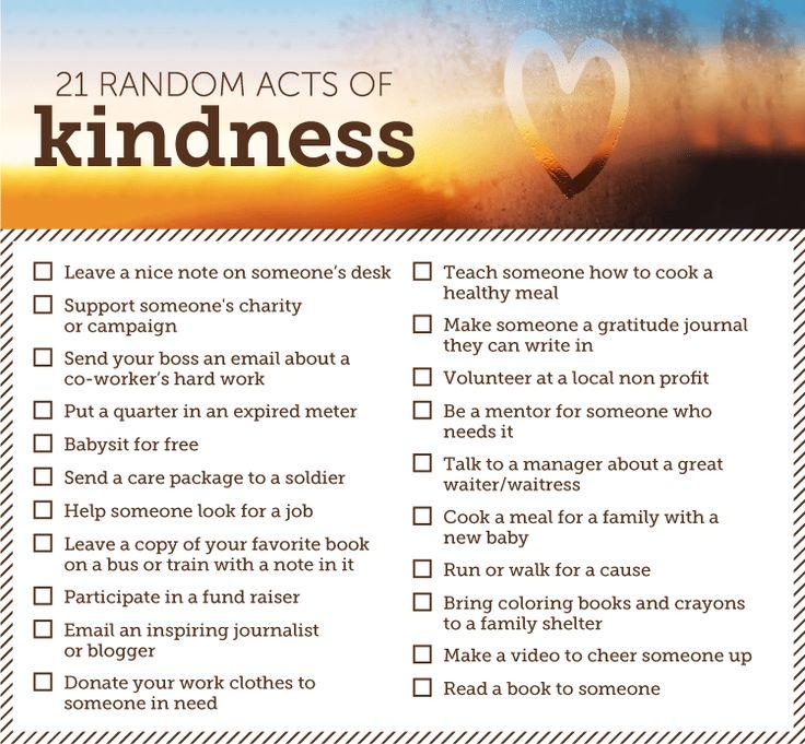 Image result for random acts of kindness ideas random