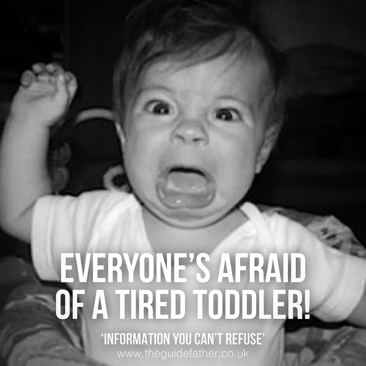 Be aware of the unpredictable tired toddler... #TheGuidefather #Tired #Toddler #Scary #Unpredictable #Humour #Funny #Parenting #Baby #Father #Dad #Info #Book #Amazon #Family #Love