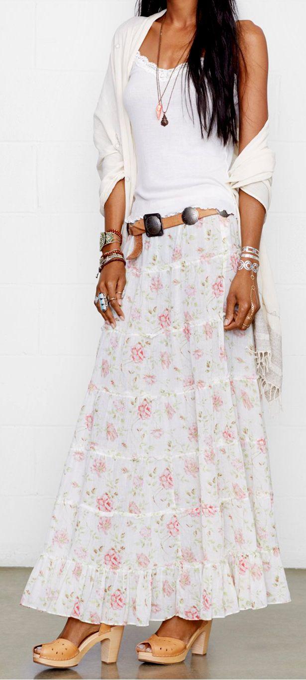 Boho tiered skirt | #sponsored