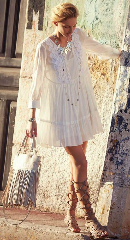 Bohemian #Style and Gladiator shoes For Summer 2015  ~☆~