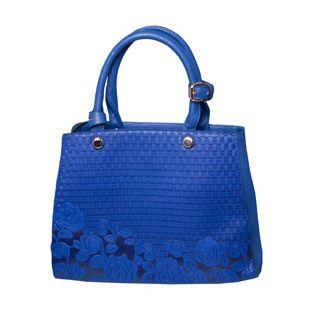 Papaya Blue Embossed Bag
