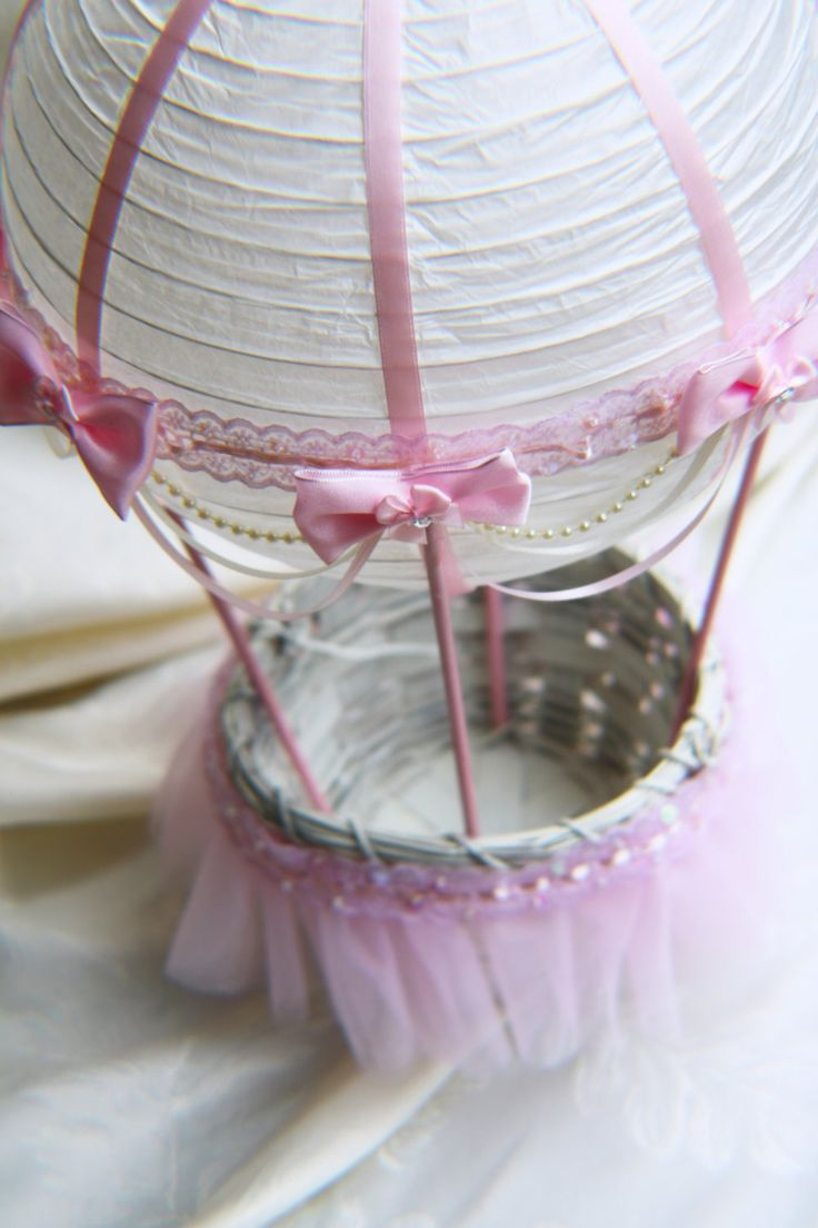 Hot Air Balloon Baby Shower Centerpiece Ivory And Pink