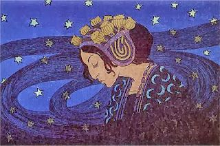 """Night"". 1903. Edward Okun.    Veredas da Língua: Fagundes Varela"