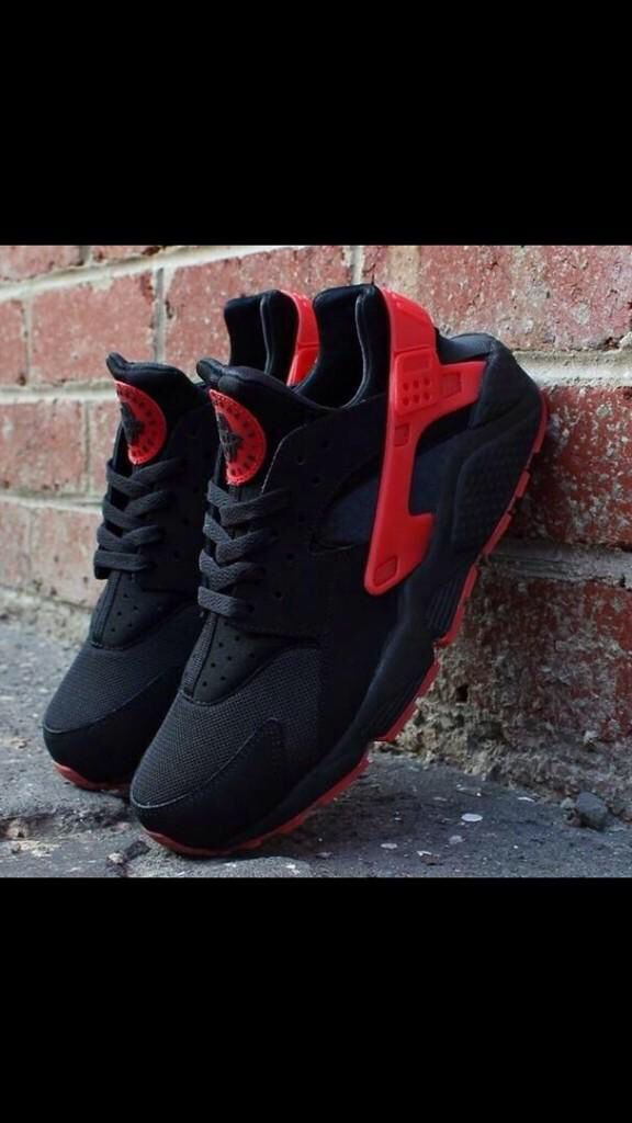 Nike Huarache Red On Feet