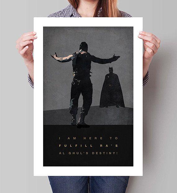 Die DARK KNIGHT RISES Film Poster Bane Batman von GreaterGeek