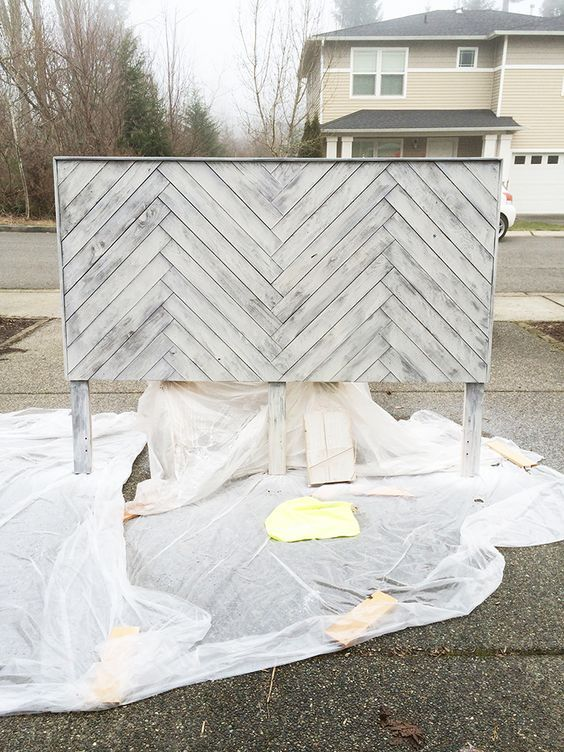 how to make your own fabric headboard